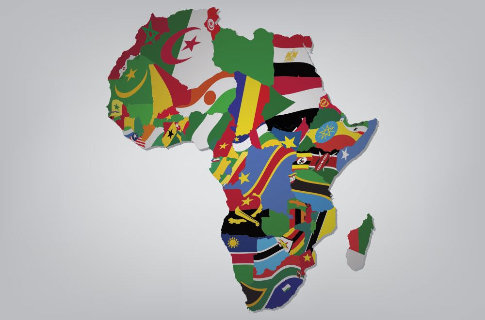 54 individual countries in africa
