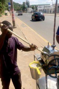 sugar cane juice making